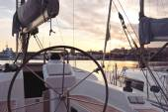Sail boats in Valencia port — Stock Photo