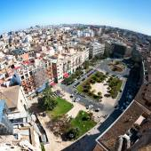 Roofs of from top of Cathedral, Valencia — ストック写真