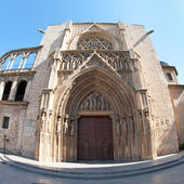 Rear entrance of Cathedral, Valencia — 图库照片