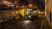 Night scene of funicular. — Stock Photo