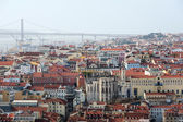 Panoramic view of Lisbon city and Tagus river — Stock Photo