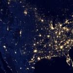 United States of America at night — Stock Photo #56050359