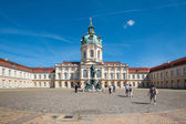 Tourists in front of Charlottenburg Palace — Stock Photo