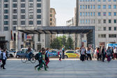People in front of Potsdamer Platz station — Stock Photo