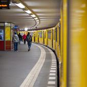 People at Potsdamer Platz subway station in Berlin — Stock Photo