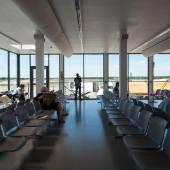 Waiting room inside Airport. Berlin Tegel Airport — Stock Photo
