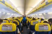 Ryanair Jet airplanes interiorior view. — Stok fotoğraf