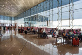 Waiting room inside El Prat International Airport. — Stock Photo
