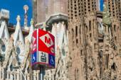 Metro sign. The Barcelona Metro — Stockfoto