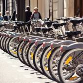 Cycle Hire in Paris, France. — Stock Photo