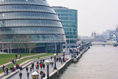 People walking close to City Hall. — Stock Photo