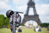 Segway parked in front the Eiffel Tower — Stock Photo