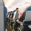 Air France Jet airplanes interior view. — Stock Photo #56223913