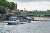 Cruise boat for tourists on Spree river. — Stock Photo