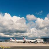 Air France Jet airplanes at Charles de Gaulle airport. — Stock Photo