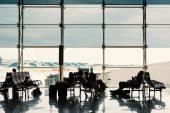 Waiting room inside El Prat International Airport. — Stock Photo