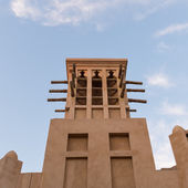 Traditional tower inside the Souk of Madinat Jumeirah. — Stock Photo