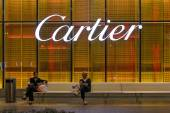 Cartier sign outside Dubai Mall. — Stockfoto