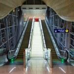 Escalators inside Jumeirah Lakes Tower metro — Stock Photo #56250007