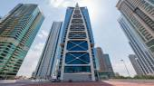 Indigo Tower inside Jumeirah Lakes  Towers district. — Stock Photo