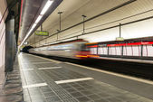 Rocafort subway station. — Stock Photo