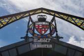 Mercat de Sant Josep de la Boqueria sign — Stock Photo
