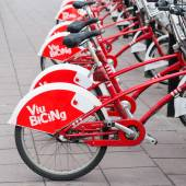 Bicycle of the Cycle service in Barcelona — Stock Photo