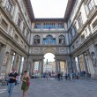 Постер, плакат: People in front of Uffizi Gallery
