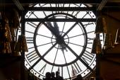 Big clock in the Cafeteria of the  Musee d'Orsay. — Stock Photo
