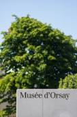 Musee d'Orsay sign. — Stock Photo