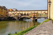 Ponte Vecchio (Old Bridge) in Florence, Italy.  — Stock Photo