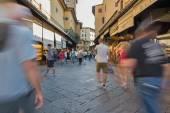 People walking on Ponte Vecchio — Stock Photo