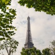 Eiffel Tower against cloudy sky — Stock Photo #68574729