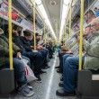 Commuters inside metro — Stock Photo #68575329