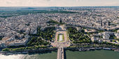 Modern buildings from the Eiffel Tower — Stock Photo