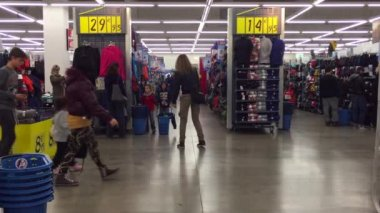 Decathlon Sport Store inside view — Stock Video