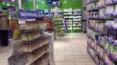 Farmacia della Cicogna interior view — Vídeo stock
