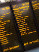 Terminal stations shown on digital display — Stock Photo