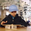 Kid playing with iPad — Stock Video #71595837