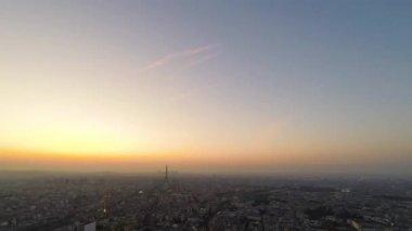Paris skyline with the Eiffel Tower — Stock Video