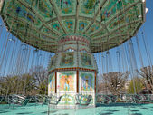 Merry go round inside Jardin d'Acclimatation in Paris — Stock Photo