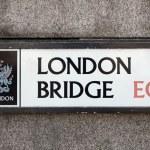 London Bridge road sign — Stock Photo #77478752