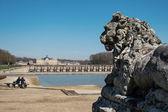 Statue inside the garden of Vaux le Vicomte Castle — Stock Photo