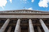 British Museum facade from below — Стоковое фото