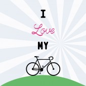 I love bicycle12 — Stock Vector