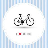 I love to ride2 — Wektor stockowy
