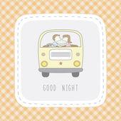 Bonne nuit carte1 — Vecteur