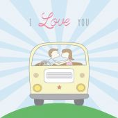 Couple in love3 — Stock Vector