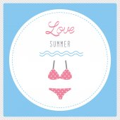 Love summer2 — Stock Vector