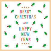 MC and HNY greeting card12 — Stock Vector